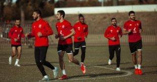 الأهلي يتدرب على الملعب الفرعي لاستاد رادس بتونس