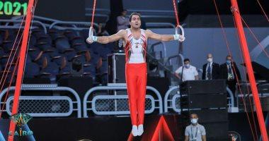 علي زهران: هدفي ذهبية مصرية في كأس العالم للجمباز الفني.