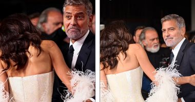 Amal Clooney's shoes implicate her in an embarrassing situation at the London Film Festival, and George saves her