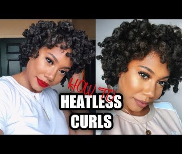 Title Overnight Heatless Curls Short Hair