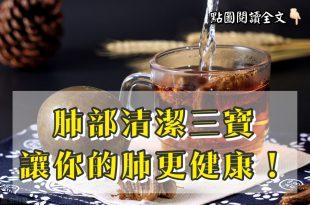 肺部清潔三寶,讓你的肺更健康!-台灣養生網