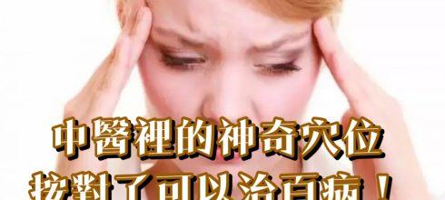 中醫裡的神奇穴位,按對了可以治百病!-台灣養生網
