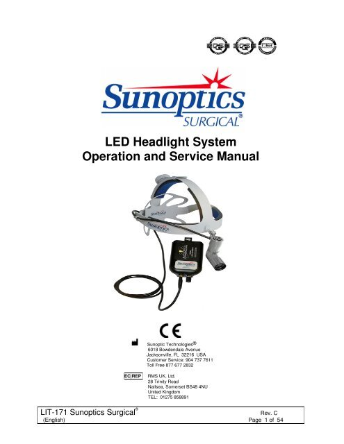 LED Headlight System Operation and Service Manual