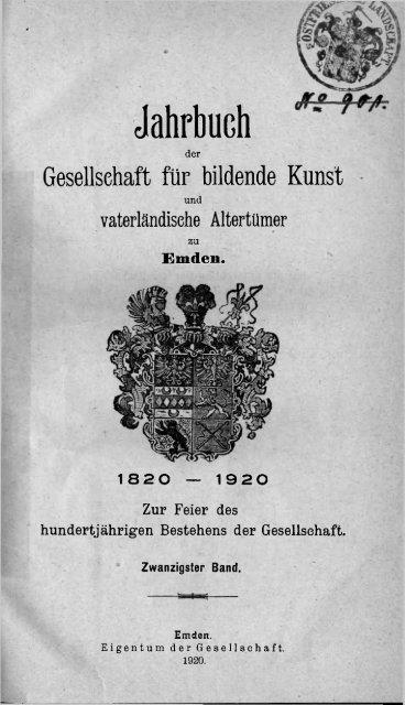 emder jahrbuch 20 1920 ostfriesische