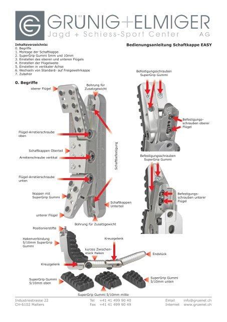 Manual Schaftkappe EASY