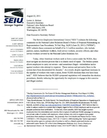 NACD Comments on OSHA39s Proposed MSD Rule