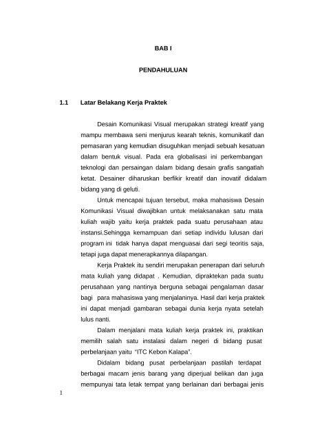Contoh Laporan Magang Notaris Download Contoh Lengkap Gratis