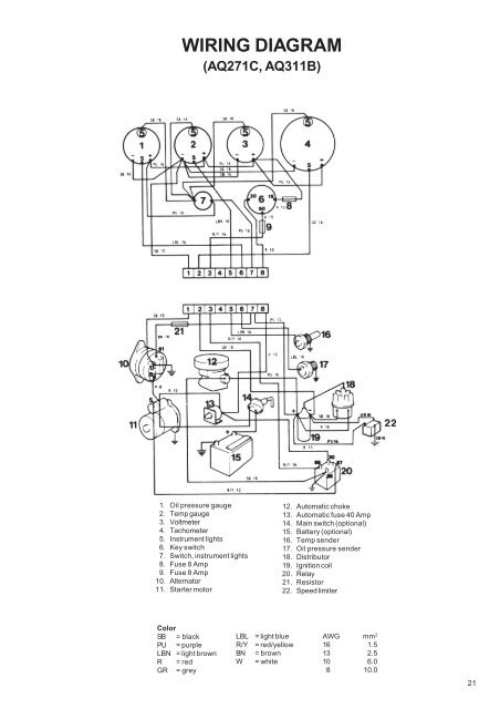 20 WIRING DIAGRAM (AQ211A