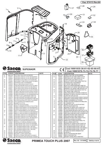 Saeco Primea Touch Plus Service Manual