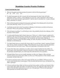 Bio 102 Practice Problems Mendelian Genetics and Extensions
