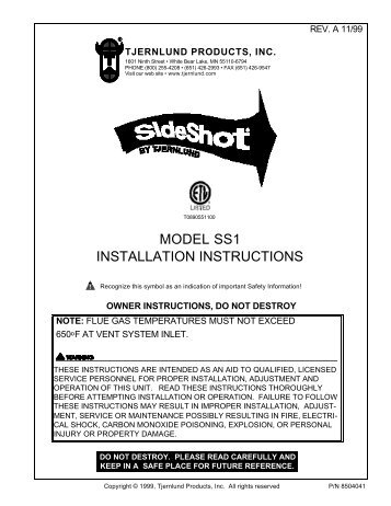 model ss1 installation instructions tjernlund products inc?resize\=357%2C462\&ssl\=1 honeywell l7224 aquastat relay wiring diagram wiring diagrams Honeywell Aquastat at fashall.co