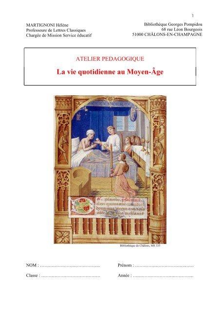 La Vie Quotidienne Au Moyen Age : quotidienne, moyen, Quotidienne, Moyen-Âge