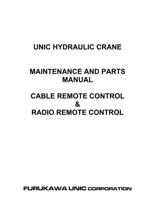 crane parts diagram signal stat 900 sigflare dot qqc 76 wiring unic hydraulic maintenance and manual spydercrane