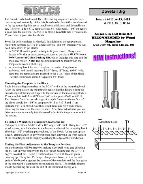 Mlcs Woodworking Catalog