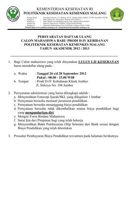 Poltekkes Kemenkes Malang : poltekkes, kemenkes, malang, Daftar, Ulang, Poltekkes, Malang