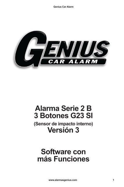 Alarma Serie 2 B 3 Botones G23 SI Versión 3 Software con