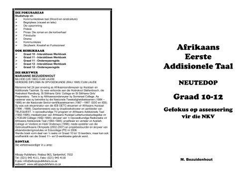 Afrikaans Eerste Addisionele Taal Graad 10-12