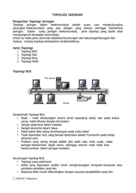 Keuntungan Dan Kerugian Topologi Mesh : keuntungan, kerugian, topologi, Topologi, Jaringan, (pdf), Mantewe