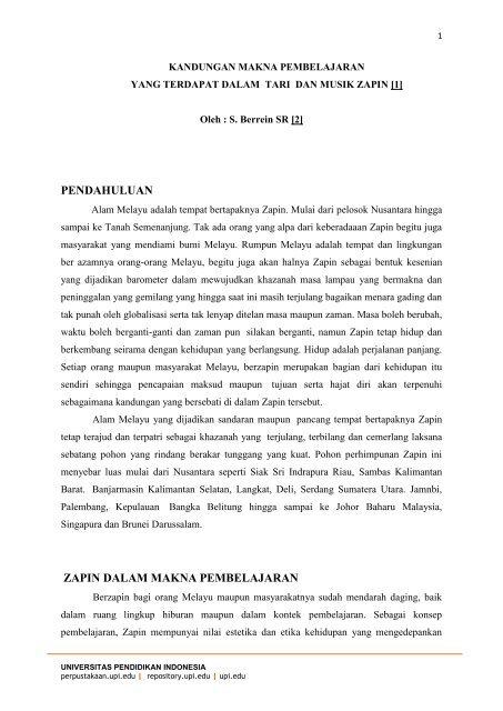Tari Zapin, Tarian Tradisional dari Kepulauan Riau