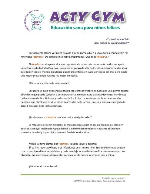 Escuela para padres El rotavirus y mi hijo Dra. Liliana B ...