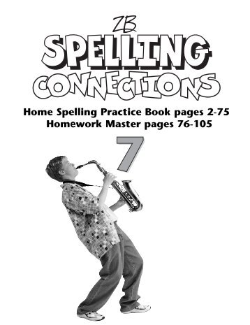 Home Spelling Practice Book pages 2-75 Homework