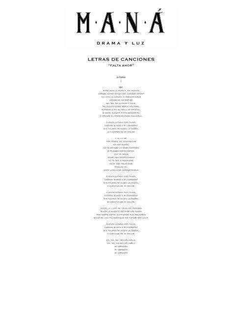 letras de canciones pdf