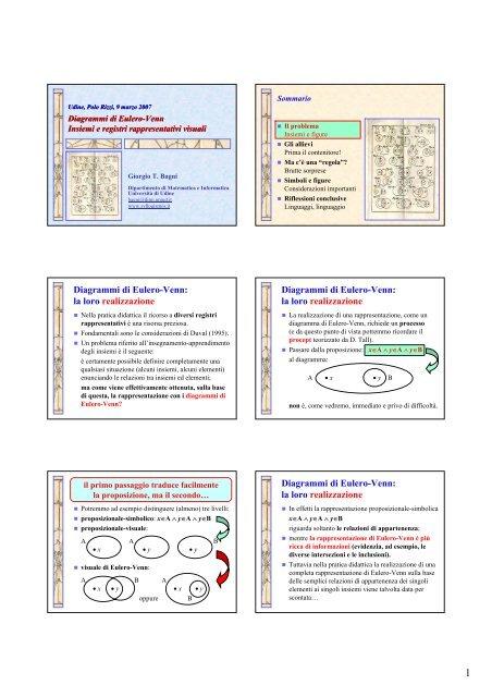 Diagrammi Di Eulero Venn La Loro Realizzazione