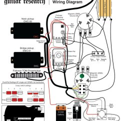 Bass Guitar Wiring Diagram To Wire A 3 Way Switch Electric For Schecter