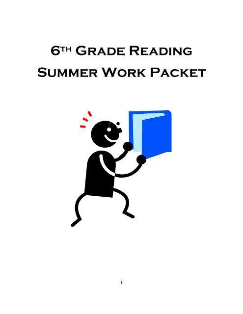 6th Grade Reading Summer Work Packet