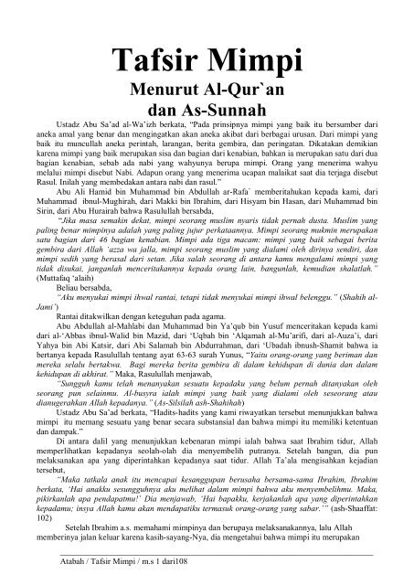 Tafsir Mimpi Tikus Dalam Islam : tafsir, mimpi, tikus, dalam, islam, Tafsir, Mimpi, OpenDrive