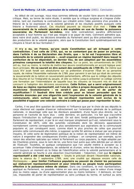 La Loi Est L Expression De La Volonté Générale : expression, volonté, générale, Carré, Malberg, Expression, Volonté, Générale