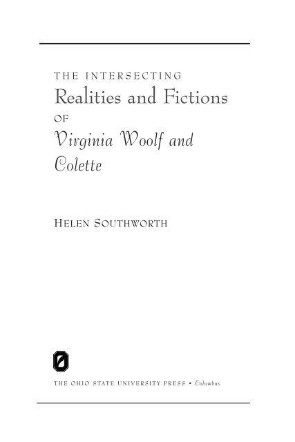Homme Peu Reveur Mots Fléchés : homme, reveur, fléchés, Virginia, Woolf, Colette, State, University, Press