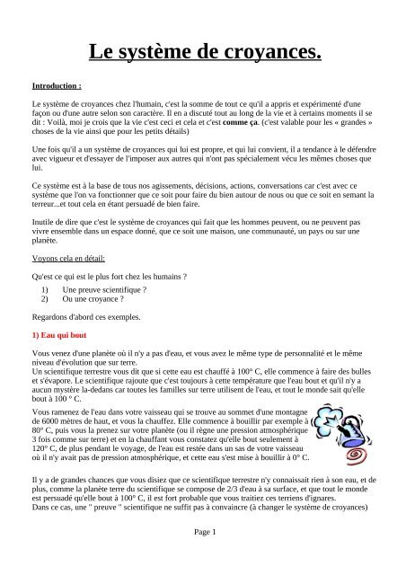 En Espérant Que Cela Vous Convienne : espérant, convienne, Complet, Annexes, (PDF), Système, Croyances