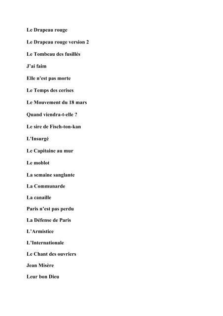 Parole Fais Moi Une Place : parole, place, Télécharger, Paroles, Chansons, Commune