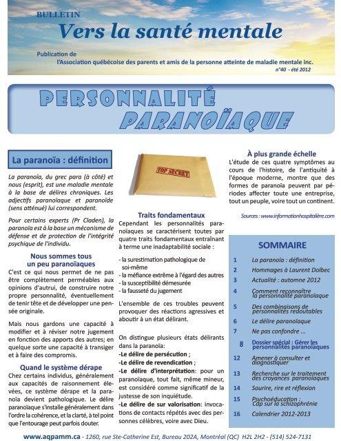 Comment Convaincre Un Paranoiaque De Se Faire Soigner : comment, convaincre, paranoiaque, faire, soigner, PARANOÏAQUE, AQPAMM