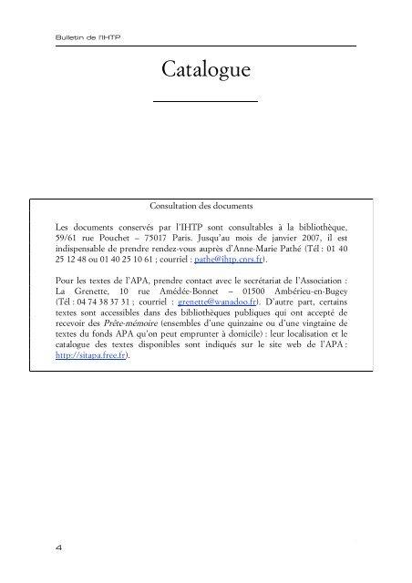 Institut D'histoire Du Temps Présent : institut, d'histoire, temps, présent, Catalogue, Institut, D'histoire, Temps, Présent