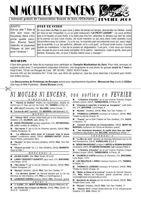 Tam Tam Mont De Marsan : marsan, Moules, Encens, Gueule