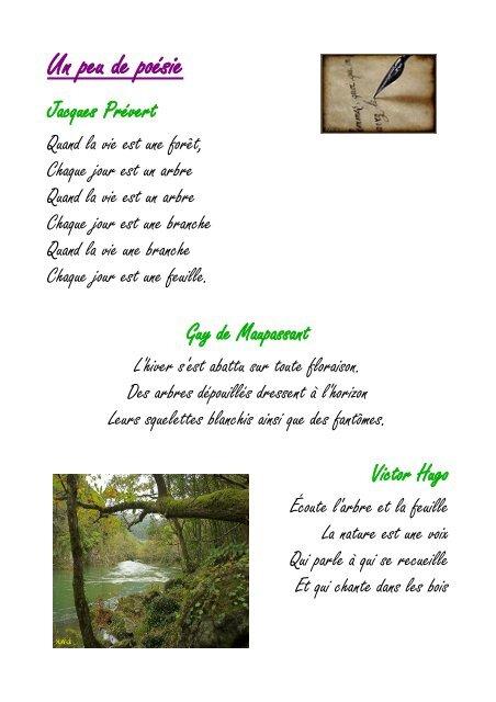 Poème Sur La Nature De Jacques Prévert : poème, nature, jacques, prévert, Poésie