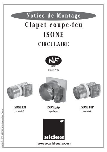 Clapets Coupe Feu Rectangulaires Type CU4 Air Trade Centre