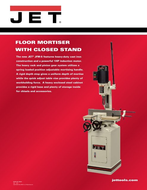 floor mortiser with closed stand jet