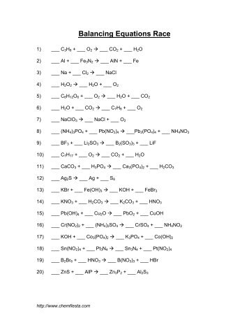 Printables. Types Of Chemical Reactions Worksheet Answers