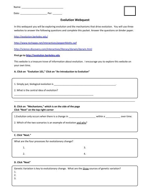 Answer Key Peppered Moth Simulation Worksheet Answers