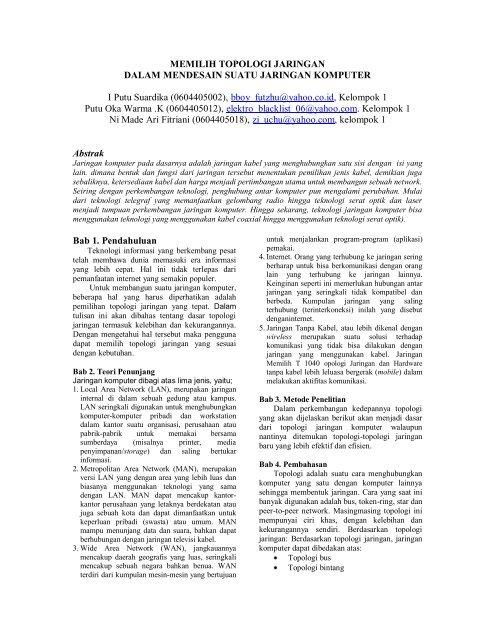 Perbedaan Topologi Bus Dan Star : perbedaan, topologi, MEMILIH, TOPOLOGI, JARINGAN