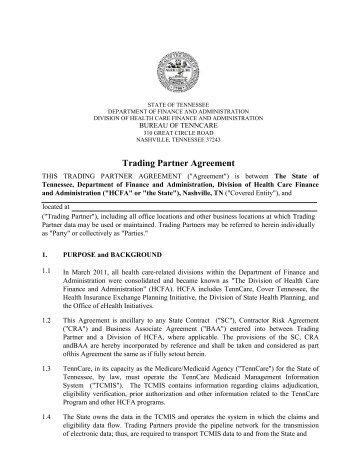 draft – standard trading partner agreement (stpa) - Centers for ...