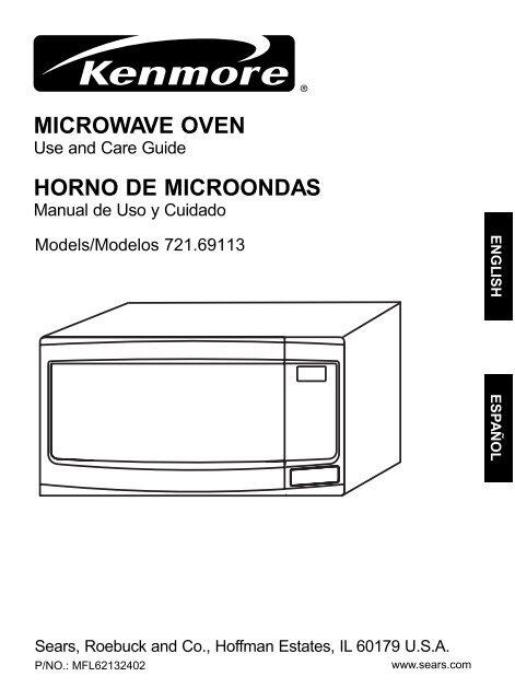microwave oven horno de microondas sears