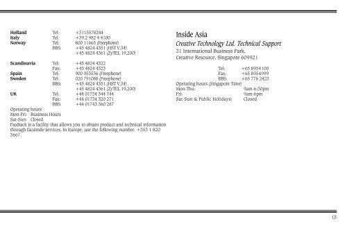 Technical Support Inside
