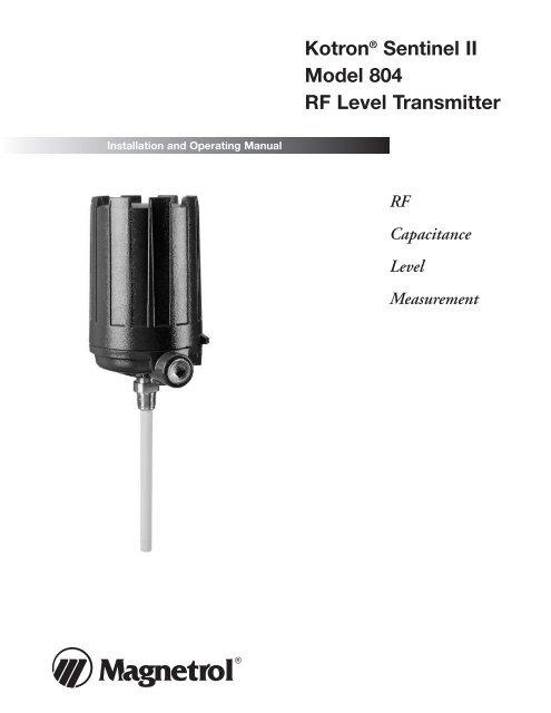 50-604 Kotron Sentinel II Model 804 RF Level Transmitter