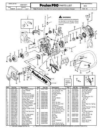 IPL, Poulan Pro, 295, 2005-11, Chain Saw