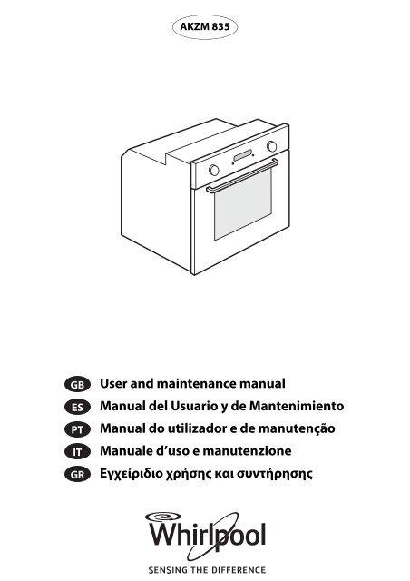 User and maintenance manual Manual del Usuario y de