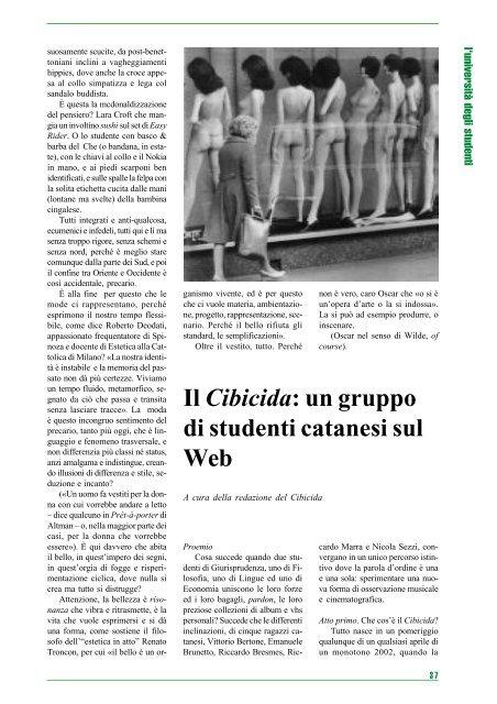 Il Cibicida: un gruppo di studenti catanesi sul Web